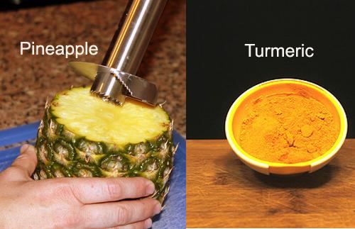 Turmeric-Pineapple to Reduce Dark Circles Under Eyes