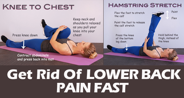 How To Get Rid Of Lower Back Pain Fast At Home