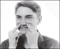 acupressure points for blocked nose